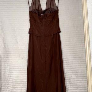 Jordan Dresses - Women's Long Brown Dress